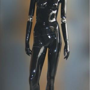 Манекен женский глянцевый(black)HAF-A1-FHD