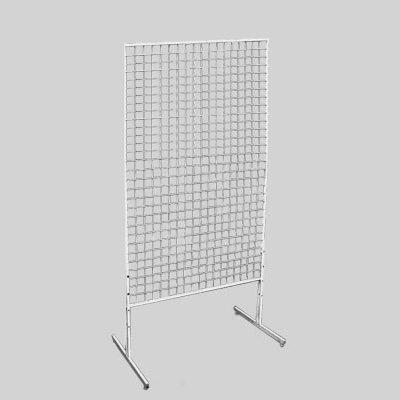 Стойка-решетка напольная металлическая белая 600x1500 мм. СТ-007-Р