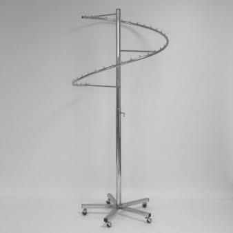 Вешало для одежды напольное спиральное регулируемое металлическое D3-061C