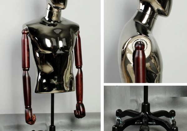 Upscale-bust-font-b-mannequins-b-font-male-fashion-clothing-store-display-hanger-silver-plating-quadrangular
