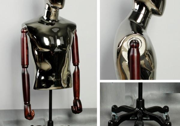 Upscale-bust-font-b-mannequins-b-font-male-fashion-clothing-store-display-hanger-silver-plating-quadrangular