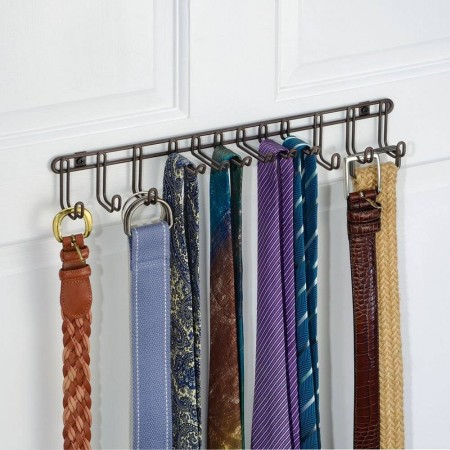 interdesign-classico-wallmount-tie-belt-rack
