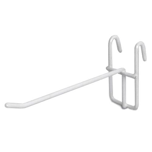 Крючок на сетку-решётку крашенный белый полимер