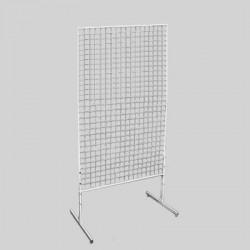 Стойка-решетка напольная металлическая белая 900x1500 мм СТ-008-Р