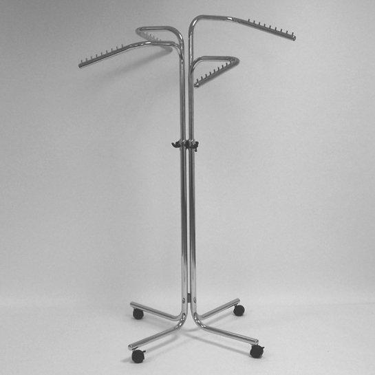 Вешало для одежды напольное регулируемое рожковое хромированное ST030R50R