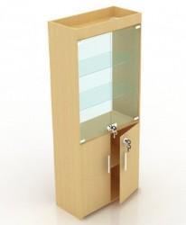 Витрина стеклянная с подсветкой В-206-С