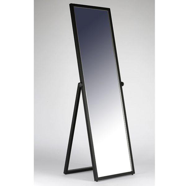 ЗМ_03 Зеркало напольное в раме чёрного цвета