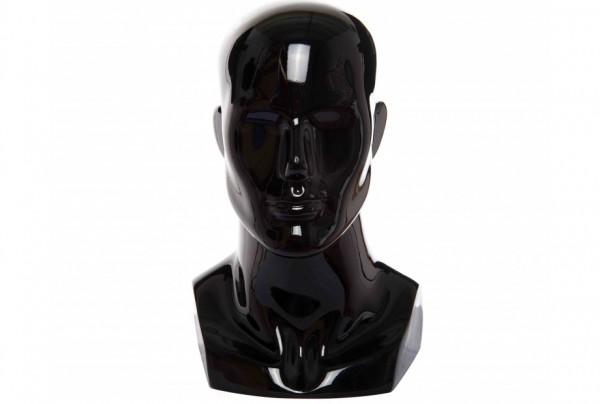 Манекен голова мужская глянцевая GJTM-6(b2) чёрная