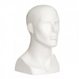 Манекен голова мужская глянцевая GJTM-6(b1) белая