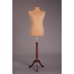 Манекен мужской портновский на деревянной подставке (мягкий 48-50р) MR-3