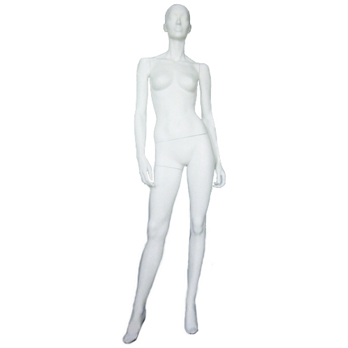 Манекен женский белый глянцевый BL-64