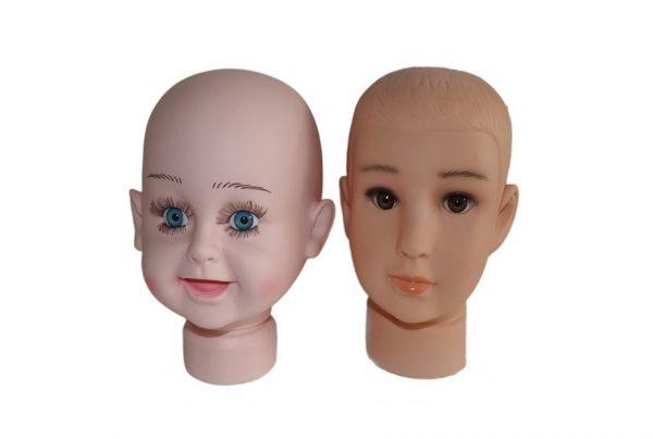 Манекен голова детская для шапок 1719