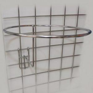 Крючок кольцо для шапки на решётку хром P-023