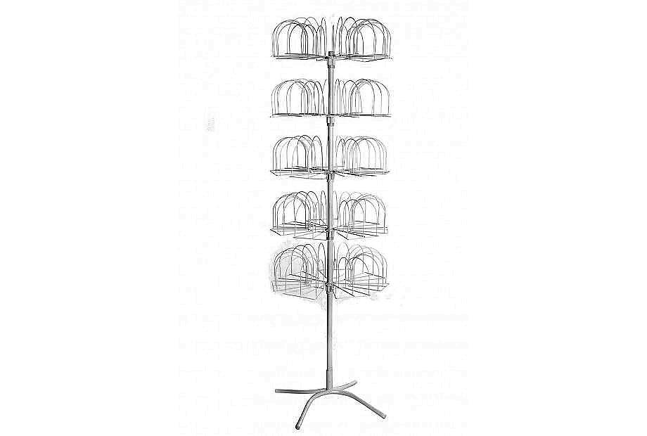 Стойка вертушка под трикотажные шапки — Гвоздика