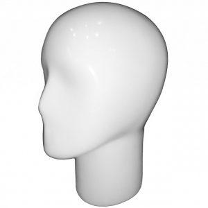 Голова женская белая глянцевая для демонстрации головных уборов