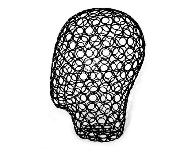 HEAD-1075B Голова женская сетчатая короткая чёрная