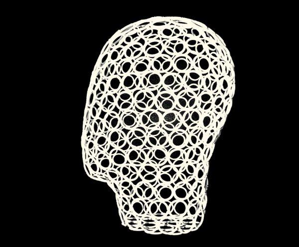 HEAD-1075W Голова женская сетчатая короткая белая