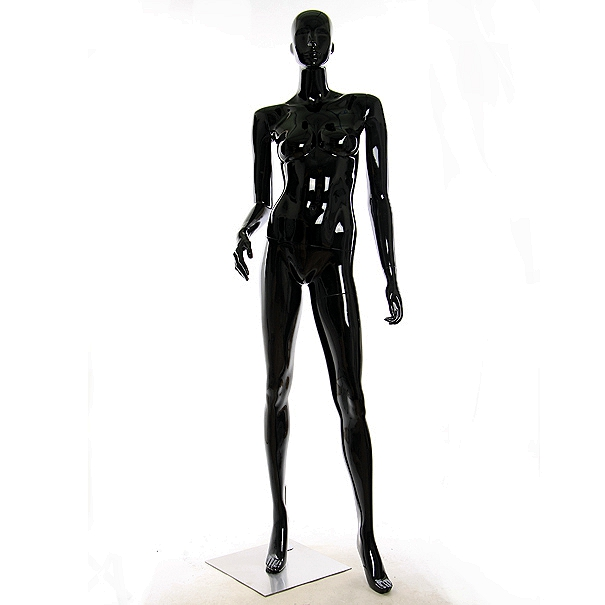 WA-112(B2) манекен чёрный глянцевый_