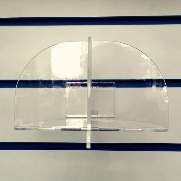 Ol-215N подставка из оргстекла для шапок в эконом панель_