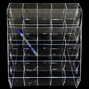 Подставка из оргстекла под ручки и карандаши на 25-ть ячеек