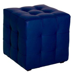 Банкетка_пуф синяя стёганая BN-10_blue