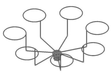 Дисплей с круглыми кронштейнами под шапку