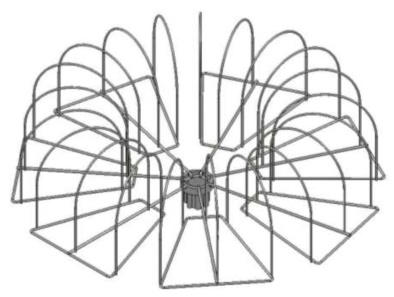 Дисплей с плоскими кронштейнами под вязаную шапку