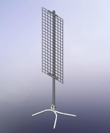 Стойка односторонная с сеткой 1200х350
