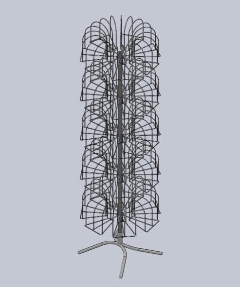 Стойка под вязаные шапки «Гвоздика» (105 кр.) белый